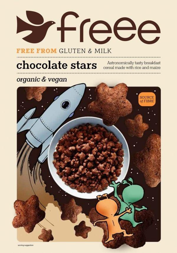 דגני בוקר כוכבים בטעם שוקו ללא גלוטן - FREEE